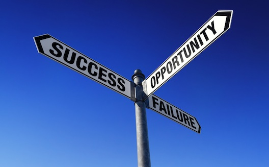 Success Opportunity Failure Sign